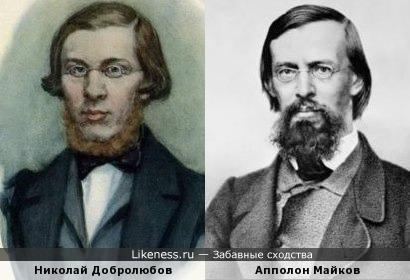 Николай Добролюбов похож на Апполона Майкова