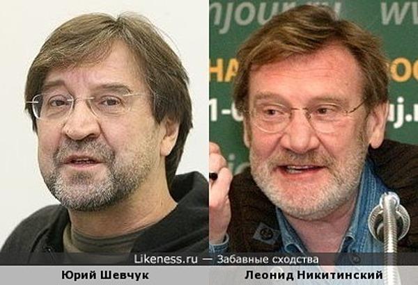 Юрий Шевчук похож на Леонида Никитинского