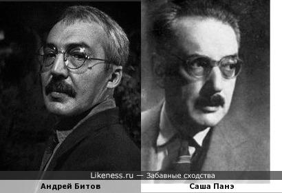 Российский писатель Андрей Битов похож на румынского поэта Сашу Панэ
