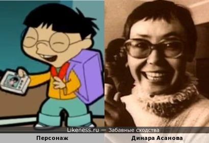 Персонаж мультфильма из серии про Мистера Бина напоминает режиссёра Динару Асанову