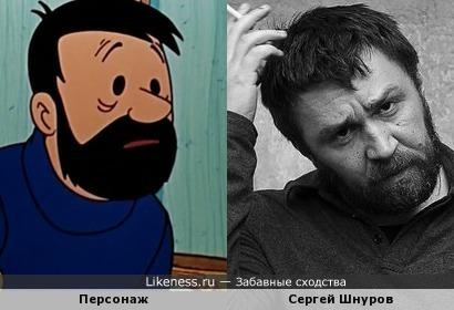 """Персонаж мультфильма """"Приключение Тинтина.Дело Турнесоля"""