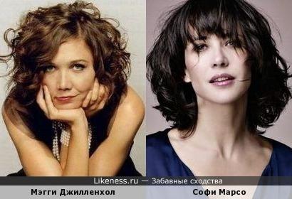 Мэгги Джилленхол похожа на Софи Марсо