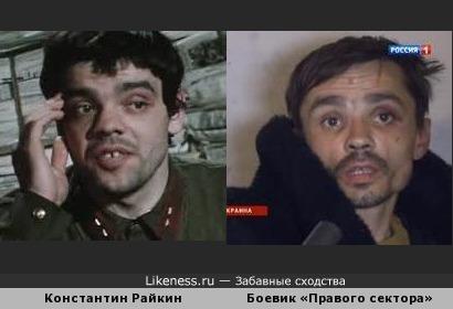 Один из боевиков «Правого сектора», поймайнных в Донецке похож на Райкина