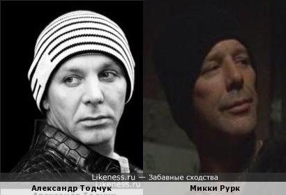 Александр Тодчук похож на Микки Рурка