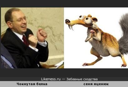 Чокнутая белка - премьер министр Украины