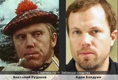 Анатолий Рудаков и Адам Болдуин