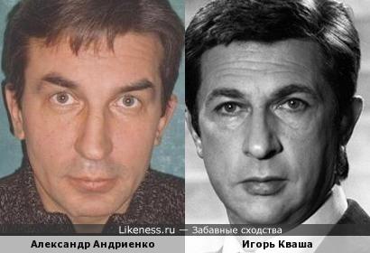 Александр Андриенко и Игорь Кваша похожи