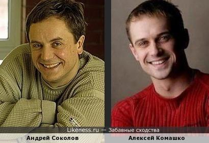 Алексей Комашко похож на Андрея Соколова