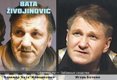 Велимир 'Бата' Живоинович и Игорь Бочкин похожи...