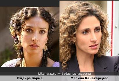 Индира Варма и Мелина Канакаредес