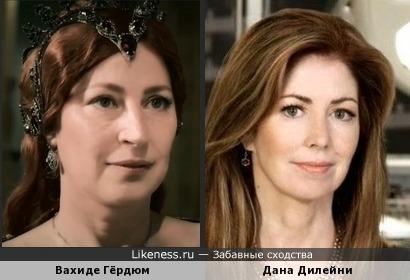 Дана Дилейни и Вахиде Гердюм похожи