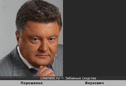 Петр Янукович Похож на Виктора Порошенко