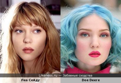 Леа Сейду похожа на Doe Deere