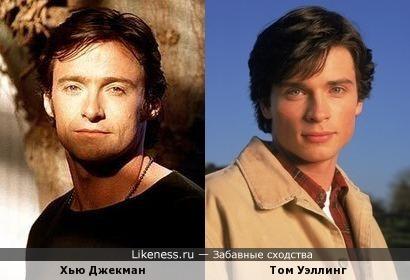 Молодой Хью Джекман похож на Тома Уэллинга