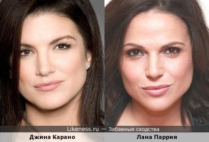 Джина Карано похожа на Лану Паррию