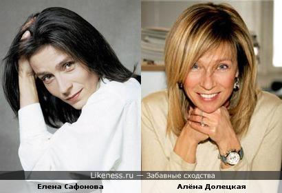 Главред Vouge Russia и Елена Сафонова похожи