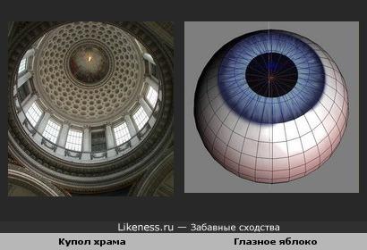 Купол храма на этом фото похож на глаз