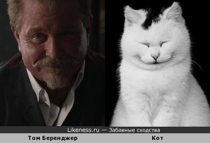 Том Беренджер похож на кота