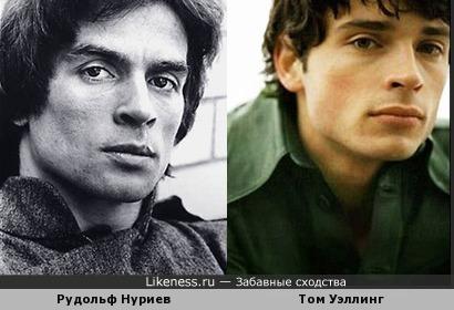 Том Уэллинг очень похож на русского танцовщика балета Рудольфа Нуриева