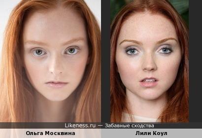 Модель из Санкт-Петербурга Ольга Москвина похожа на Лили Коул