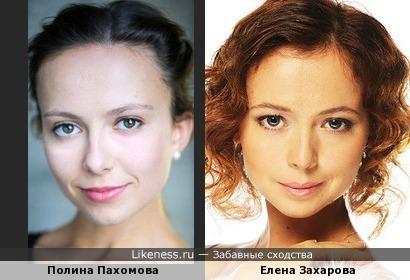 Полина Пахомова похожа на Елену Захарову