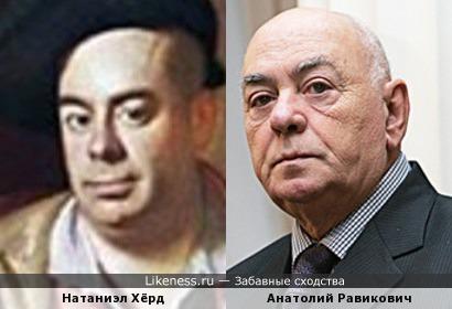 Портрет Натаниэла Хёрда напомнил Анатолия Равиковича