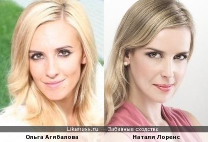 Участница Дом-2 Ольга Агибалова и актриса Натали Лоренс
