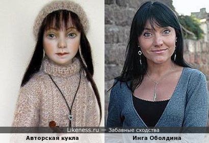 Одна из авторских кукол Светланы Никульшиной напомнилаактрису Ингу Оболдину
