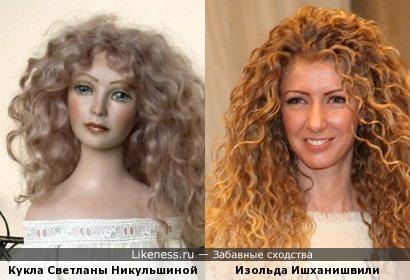 Авторская кукла Светланы Никульшиной напомнила Изольду Ишханишвили