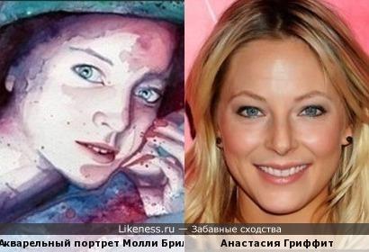 Акварельный портрет Молли Брилл и Анастасия Гриффит