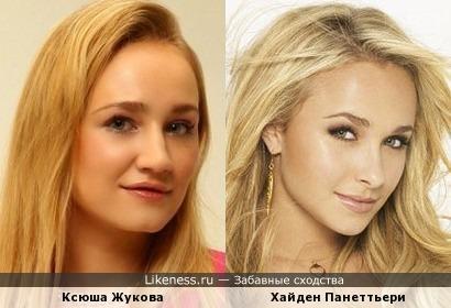 Блогерша Ксюша Жукова (в образе Риз Уизерспун «Блондинка в законе») напомнила Хайден Панеттьери