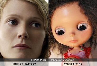 Кукла Blythe похожа на Гвинет Пэлтроу