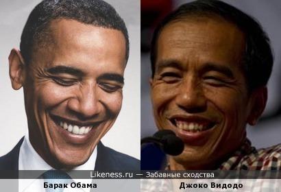 Вновь избранный Президент Индонезии и Барак Обама. Всё сходится: демократ, реформатор и, главное, хорошо улыбается :-)