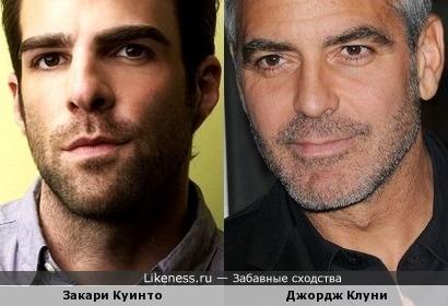 Джордж Клуни и Закари Куинто