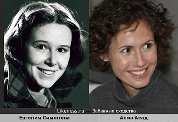 Евгения Симонова и Асма Асад похожи