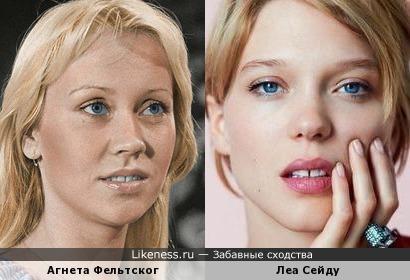 Леа Сейду похожа на Агнету из ABBA
