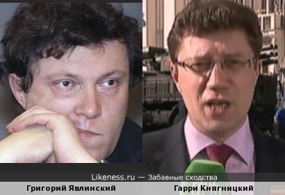 Григорий Явлинский и Гарри Княгницкий