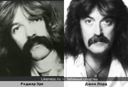 Роджер Эрл (Foghat) и Джон Лорд (Deep Purple)