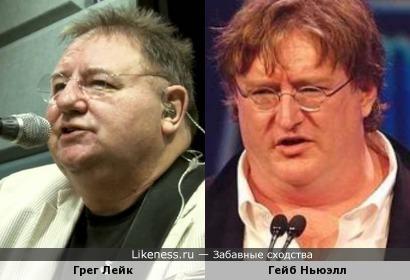 Мне кажется, или Грег Лейк с возрастом стал похож на Гейба Ньюэлла?