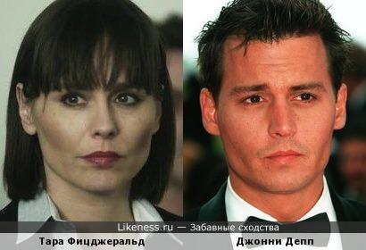 Джонни Депп и Тара Фицджеральд