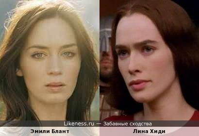Эмили Блант и Лина Хиди