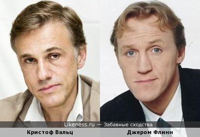 Кристоф Вальц и Джером Флинн
