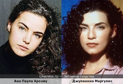 Актрисы Ана Паула Арозиу и Джулианна Маргулис
