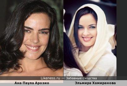 бразильская актриса и модель из Уфы похожи