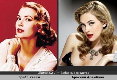 Мексиканская актриса Арасели Арамбула на этом фото напоминает принцессу Монако Грейс Келли
