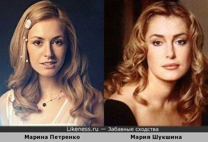 украинская актриса Марина Петренко похожа на Марию Шукшину