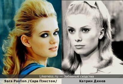 американская актриса Сара Пэкстон в этом образе напомнила молодую Катрин Денёв