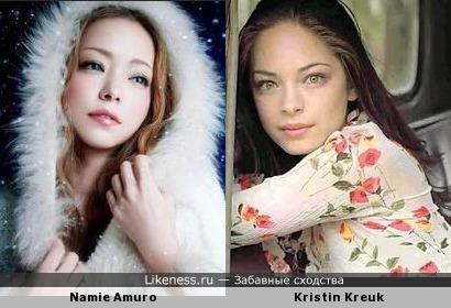 Загадочные красавицы Намиэ Амуро и Кристин Кройк
