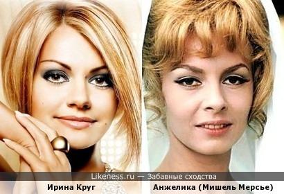 певица Ирина Круг чем-то напомнила Анжелику Маркизу Ангелов