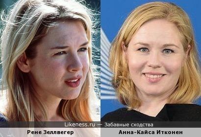 представитель ЕК Анна-Кайса Итконен напоминает актрису Рене Зеллвегер